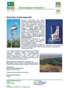 Keren Kajemetin yhteispohjoismaiden projekti Kibbutz Be'erin palonvalvontatorni